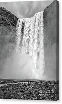 Canvas Print featuring the photograph Skogafoss Waterfall Iceland by Edward Fielding