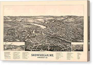 Skowhegan Maine 1892 Canvas Print by Mountain Dreams