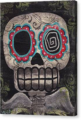 Skull Angel Canvas Print by  Abril Andrade Griffith