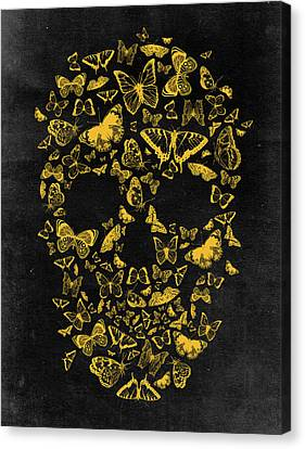 Skull Butterflies 2 Canvas Print