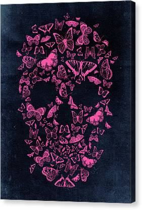 Skull Butterflies Canvas Print