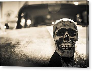 Skull Car Canvas Print by Lora Lee Chapman