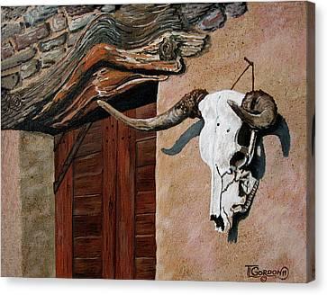 Skull En La Casa Canvas Print