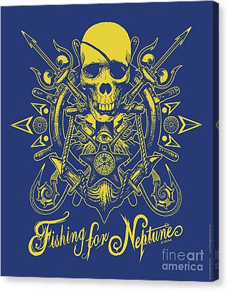 Skull F4n Canvas Print by Tony Koehl
