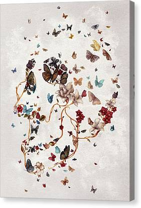 Skull Garden Canvas Print by Francisco Valle