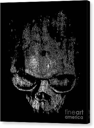 Skull Graphic Canvas Print by Edward Fielding