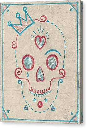 Skull Kids Canvas Print by Francisco Valle
