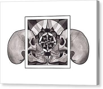 Canvas Print - Skull Mandala Series Nr 1 by Deadcharming Art