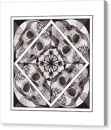 Skull Mandala Series Number Two Canvas Print by Deadcharming Art