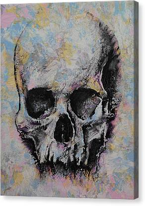 Frightening Canvas Print - Medieval Skull by Michael Creese
