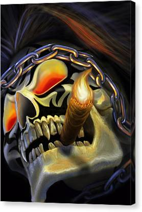 Science Fiction Canvas Print - Skull Project by Pat Lewis