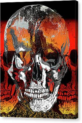 Skull Times Three Larger Size Canvas Print