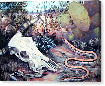 Skulldugery Canvas Print