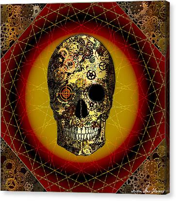 Skullgear Canvas Print by Iowan Stone-Flowers
