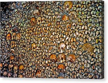 Skulls And Bones Under Paris Canvas Print by Juergen Weiss