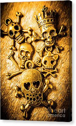 Skulls And Crossbones Canvas Print by Jorgo Photography - Wall Art Gallery