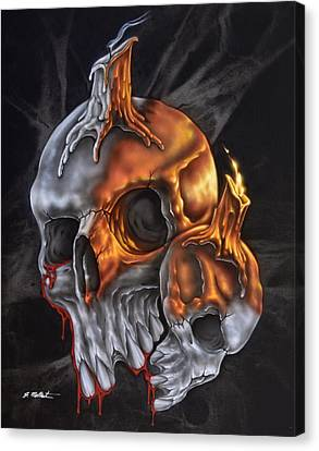 Skulls N Candles Canvas Print