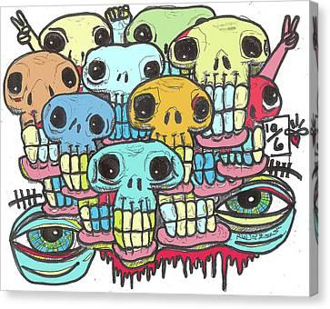 Skullz Canvas Print by Robert Wolverton Jr