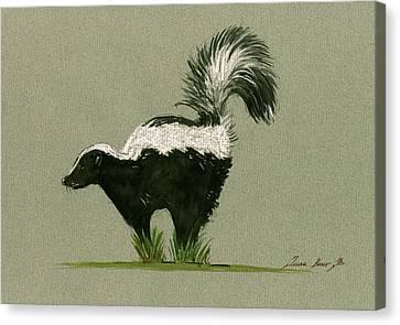Skunk  Canvas Print by Juan  Bosco