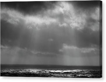 Sky And Ocean Canvas Print by Ryan Manuel