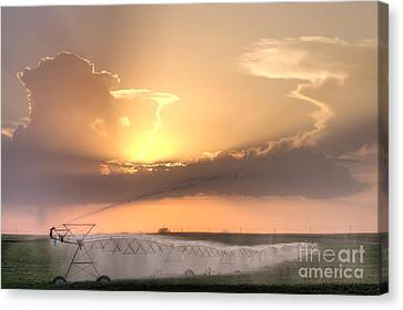 Sky And Water Canvas Print by Art Whitton
