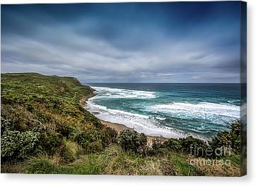 Canvas Print featuring the photograph Sky Blue Coast by Perry Webster