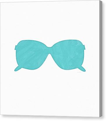Sky Blue Sunglasses- Art By Linda Woods Canvas Print by Linda Woods