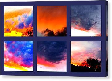 Sky Colours Canvas Print