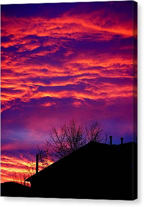 Canvas Print featuring the photograph Sky Drama by Valentino Visentini