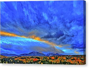 Canvas Print featuring the photograph Sky Fall by Scott Mahon