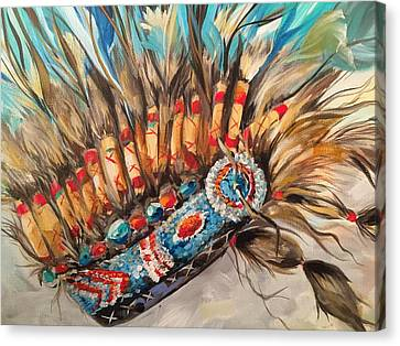 Sky Feather Detail Canvas Print