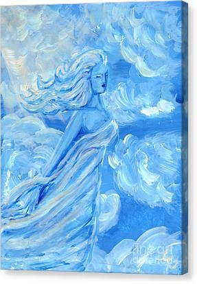 Sky Goddess Canvas Print by Cassandra Geernaert