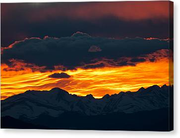Sky Lava Canvas Print by Colleen Coccia