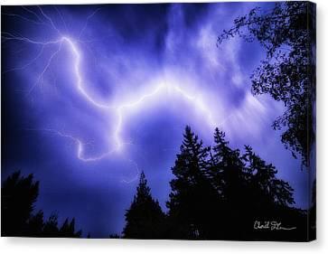 Sky Lightning Canvas Print