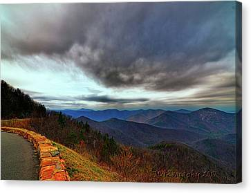 Smokey Mountain Drive Canvas Print - Sky Line Drive Virginia by Melissa Hicks
