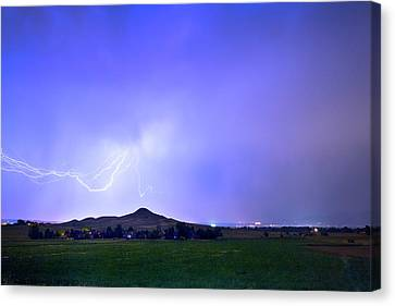 Canvas Print featuring the photograph Sky Monster Above Haystack Mountain by James BO Insogna