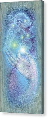 Canvas Print featuring the painting Sky Mudra by Ragen Mendenhall