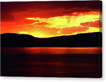 Sky Of Fire Canvas Print