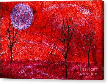 Sky Of Fire Canvas Print by Mimo Krouzian