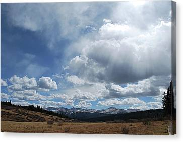 Canvas Print featuring the photograph Sky Of Shrine Ridge Trail by Amee Cave