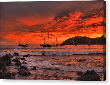 Sky On Fire Canvas Print by Jim Walls PhotoArtist
