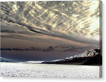 Sky Over Badwater Canvas Print by Jim Cook