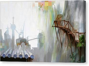 Canvas Print featuring the painting Sky Path by Dave Platford