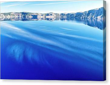 Sky Reflection In Crater Lake Canvas Print by Frank Wilson
