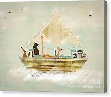 Sky Sailers Canvas Print by Bri B