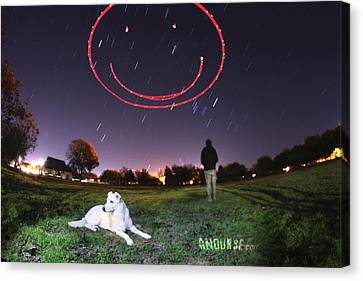 Sky Smile Canvas Print by Andrew Nourse