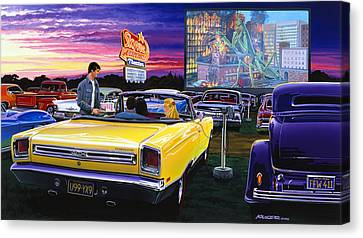 Sky View Drive-in Canvas Print by Bruce Kaiser