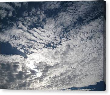 Canvas Print featuring the pyrography SKY by Yury Bashkin