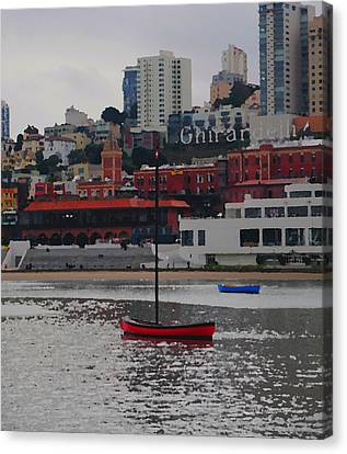 Skyline At The Bay Canvas Print
