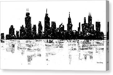 Skyline By Laura Gomez Canvas Print by Laura  Gomez